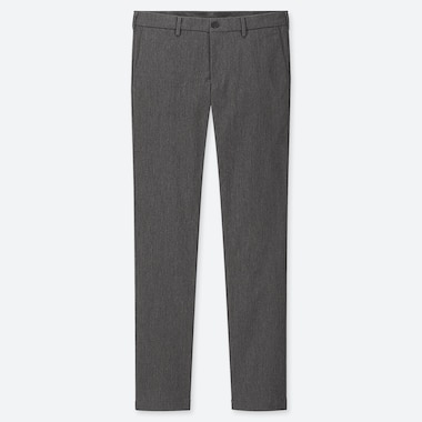 MEN SLIM-FIT CHINO FLAT-FRONT PANTS, GRAY, medium
