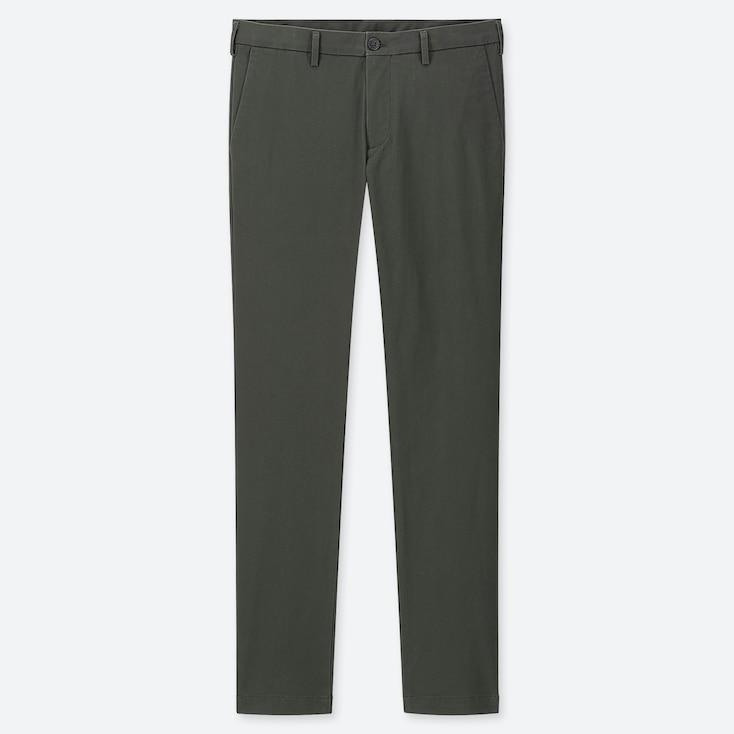 MEN SLIM-FIT CHINO FLAT-FRONT PANTS, DARK GREEN, large