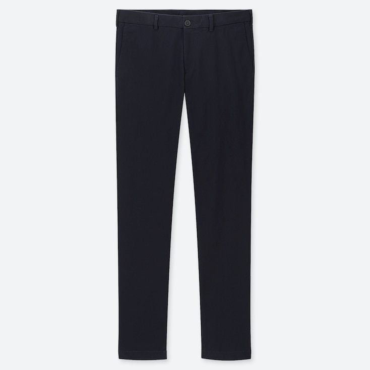 MEN SLIM-FIT CHINO FLAT-FRONT PANTS, NAVY, large