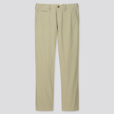 MEN VINTAGE REGULAR-FIT CHINO PANTS, BEIGE, medium