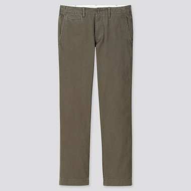MEN VINTAGE REGULAR-FIT CHINO PANTS, DARK GREEN, medium