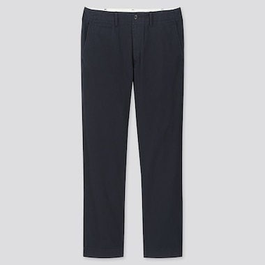 Men Vintage Regular-Fit Chino Pants, Navy, Medium