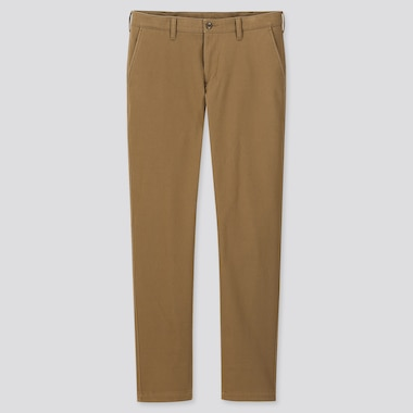 Men Windproof Stretch Slim-Fit Chino Pants, Beige, Medium