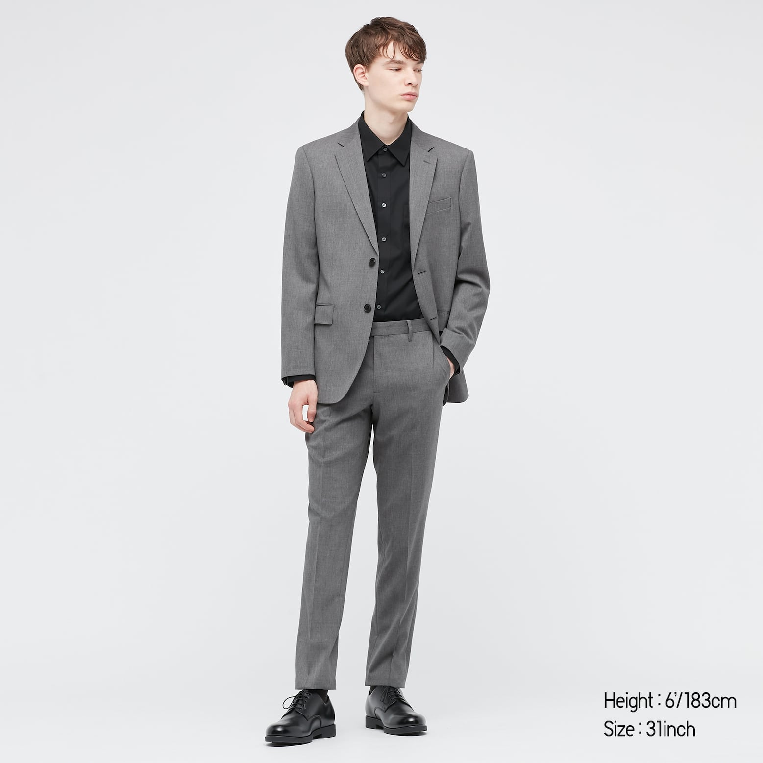 Stretch Wool Slim Fit Pants by Uniqlo