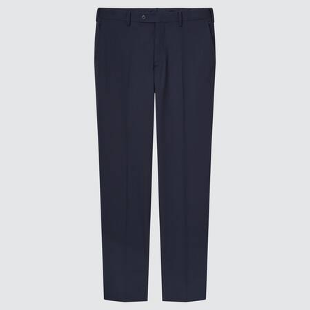 Men Wool Stretch Slim Fit Trousers (Long)