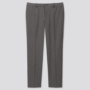 Men Ezy Ankle-Length Pants, Gray, Medium
