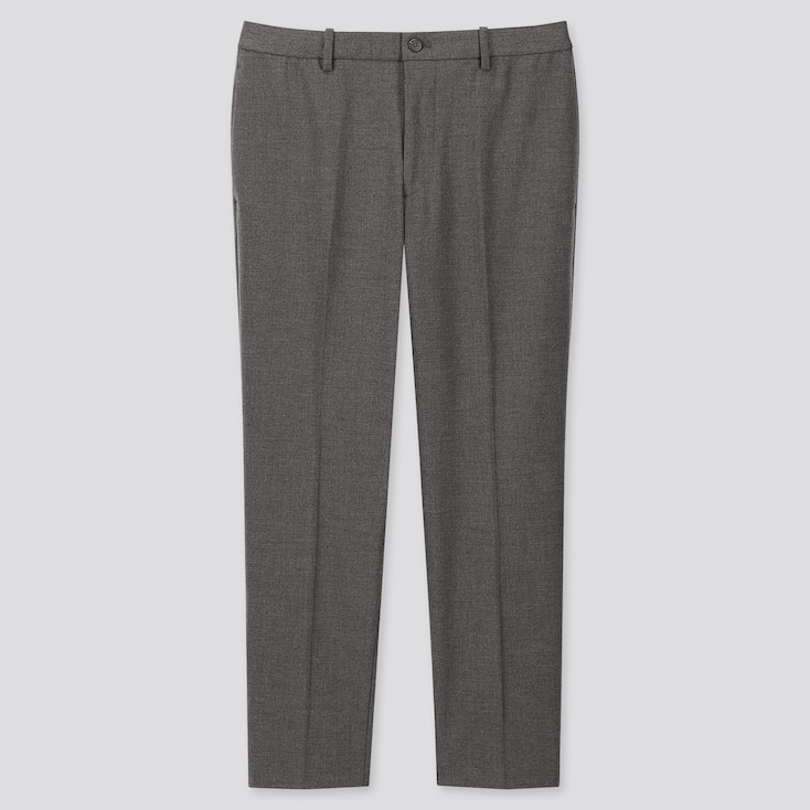 MEN EZY ANKLE-LENGTH PANTS, GRAY, large
