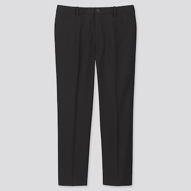 Men Ezy Ankle-Length Pants, Black, Medium