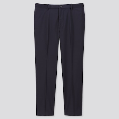 Men Ezy Ankle-Length Pants, Navy, Medium