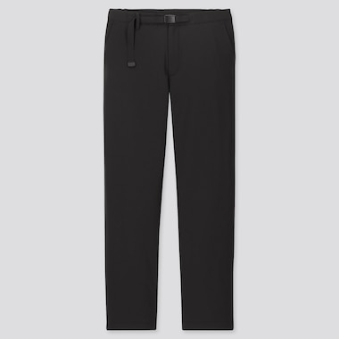 MEN WINDPROOF EXTRA WARM-LINED PANTS, BLACK, medium