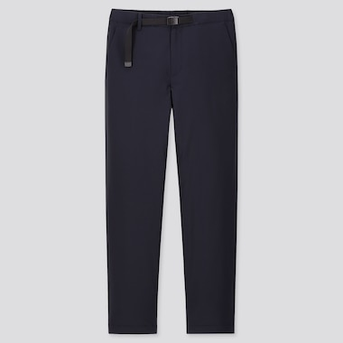 MEN WINDPROOF EXTRA WARM-LINED PANTS, NAVY, medium