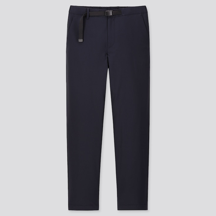 MEN WINDPROOF EXTRA WARM-LINED PANTS, NAVY, large