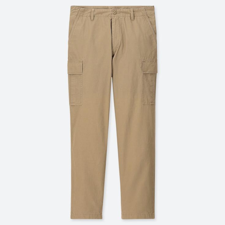 MEN REGULAR-FIT CARGO PANTS, BEIGE, large