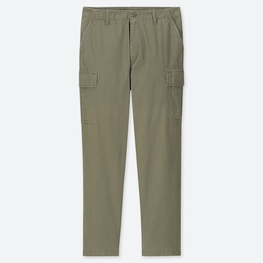 MEN REGULAR-FIT CARGO PANTS, OLIVE, medium