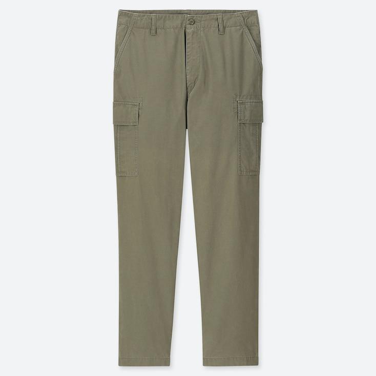 MEN REGULAR-FIT CARGO PANTS, OLIVE, large
