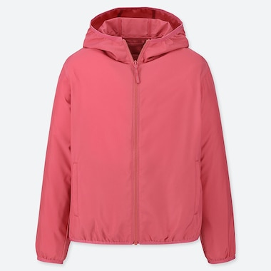 KIDS HOODED POCKETABLE PARKA