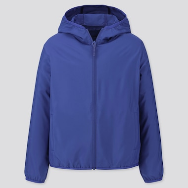 KIDS POCKETABLE PARKA, BLUE, medium