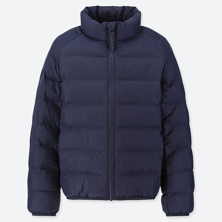 KIDS LIGHT WARM PADDED JACKET, NAVY, large