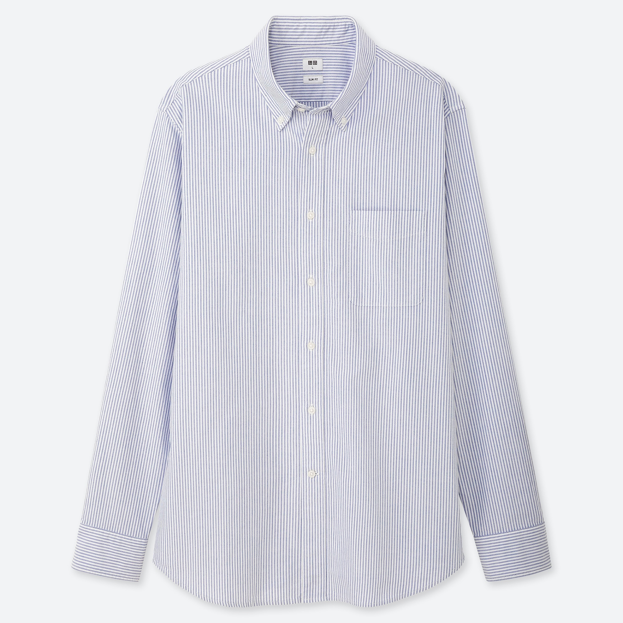 Chemise Oxford RayÉe Coupe Slim Col BoutonnÉ Homme by Uniqlo