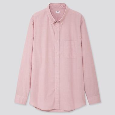 Men Extra Fine Cotton Broadcloth Long-Sleeve Shirt, Red, Medium