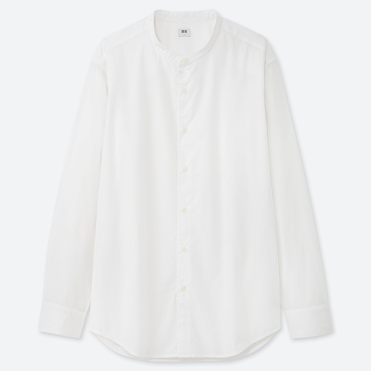 MEN EXTRA FINE COTTON BROADCLOTH LONG-SLEEVE SHIRT (ONLINE EXCLUSIVE), WHITE, large