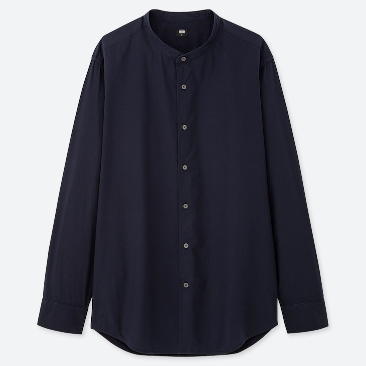 MEN EXTRA FINE COTTON BROADCLOTH LONG-SLEEVE SHIRT (ONLINE EXCLUSIVE), NAVY, large