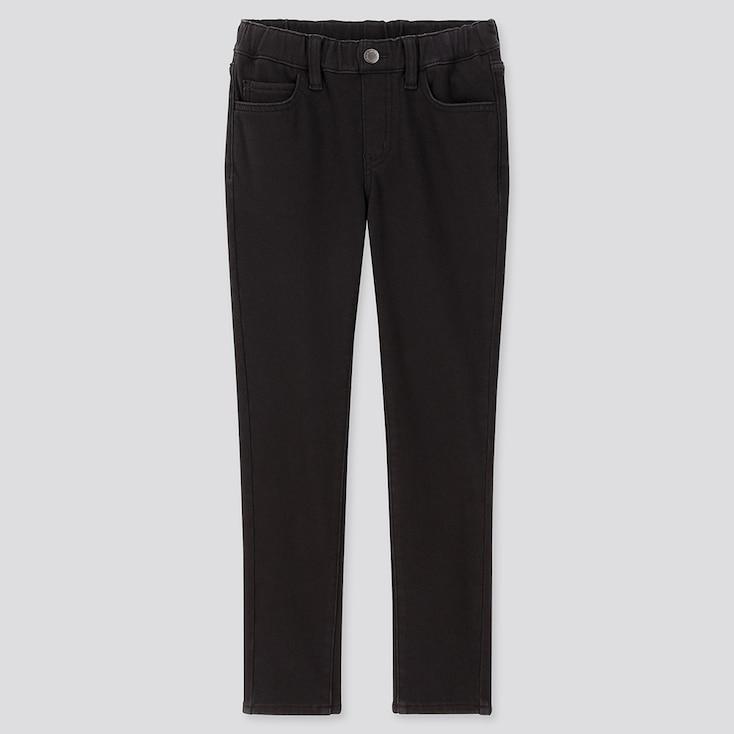 KIDS HEATTECH ULTRA STRETCH SLIM-FIT PANTS, BLACK, large