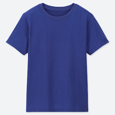 KIDS PACKAGED COLOR CREW NECK SHORT-SLEEVE T-SHIRT, BLUE, medium