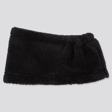 Kids Heattech Fleece Neck Warmer, Black, Medium