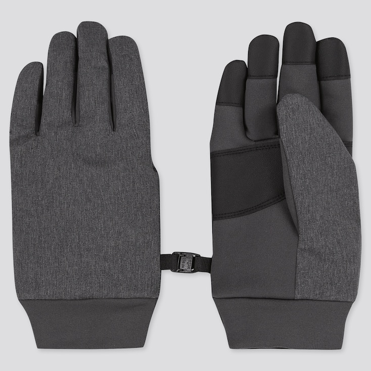 KIDS HEATTECH-LINED FUNCTION GLOVES, DARK GRAY, large