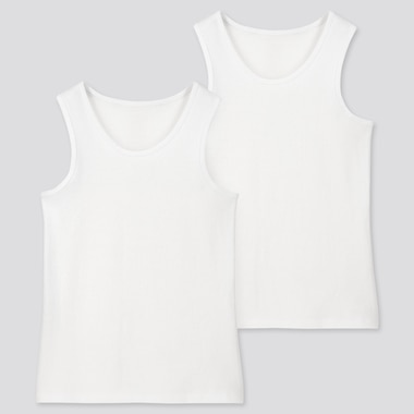 KIDS COTTON INNER VEST TOP (TWO PACK)