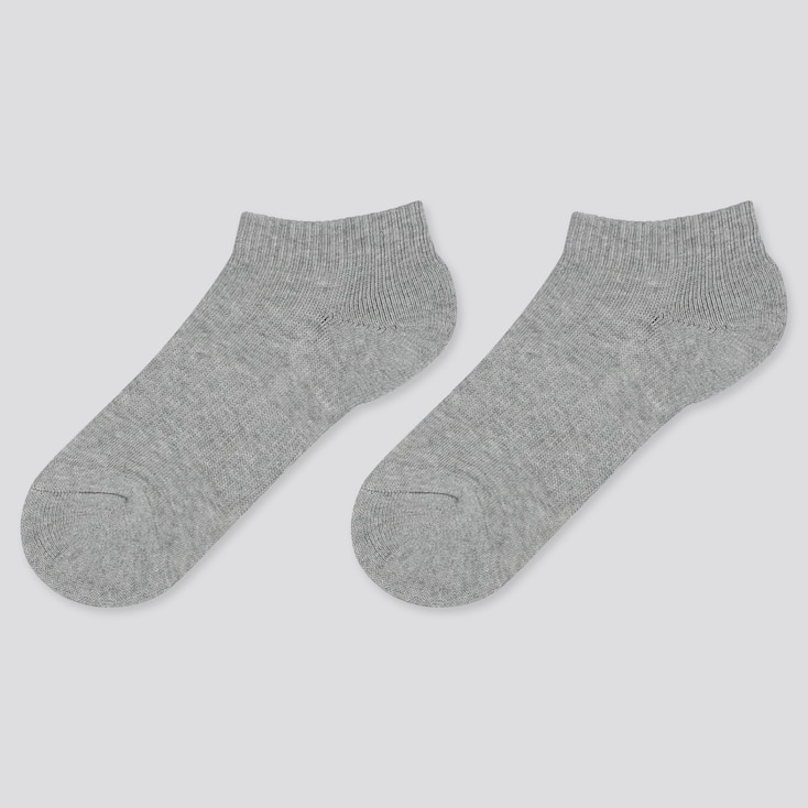 KIDS SHORT SOCKS (SET OF 2), GRAY, large