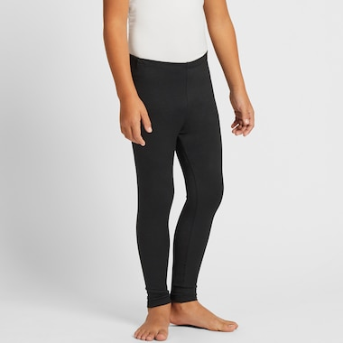 KIDS HEATTECH LEGGINGS, BLACK, medium