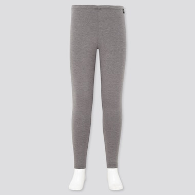 KIDS HEATTECH EXTRA WARM LEGGINGS, DARK GRAY, medium