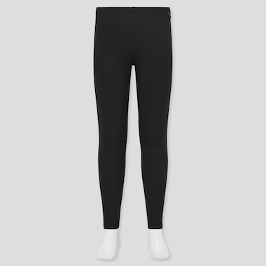 Kids Heattech Extra Warm Leggings, Black, Medium