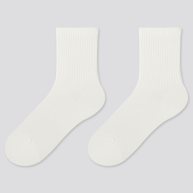 KIDS HEATTECH SOCKS (2 PAIRS), WHITE, large