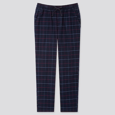 MEN FLANNEL EASY PANTS, NAVY, medium