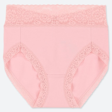 WOMEN HIGH-RISE BRIEF, PINK, medium