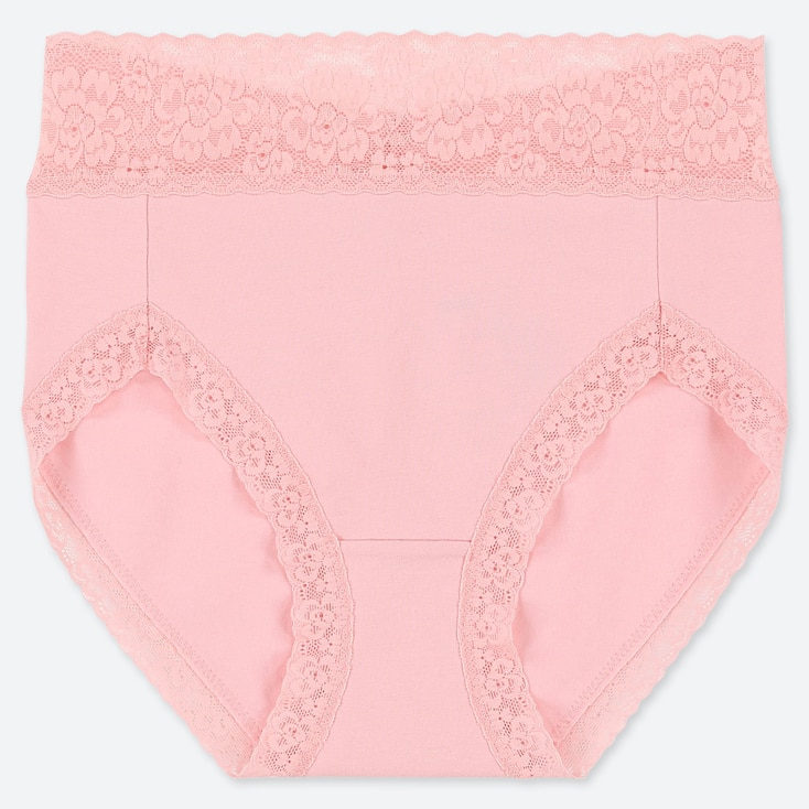 WOMEN HIGH-RISE BRIEF, PINK, large
