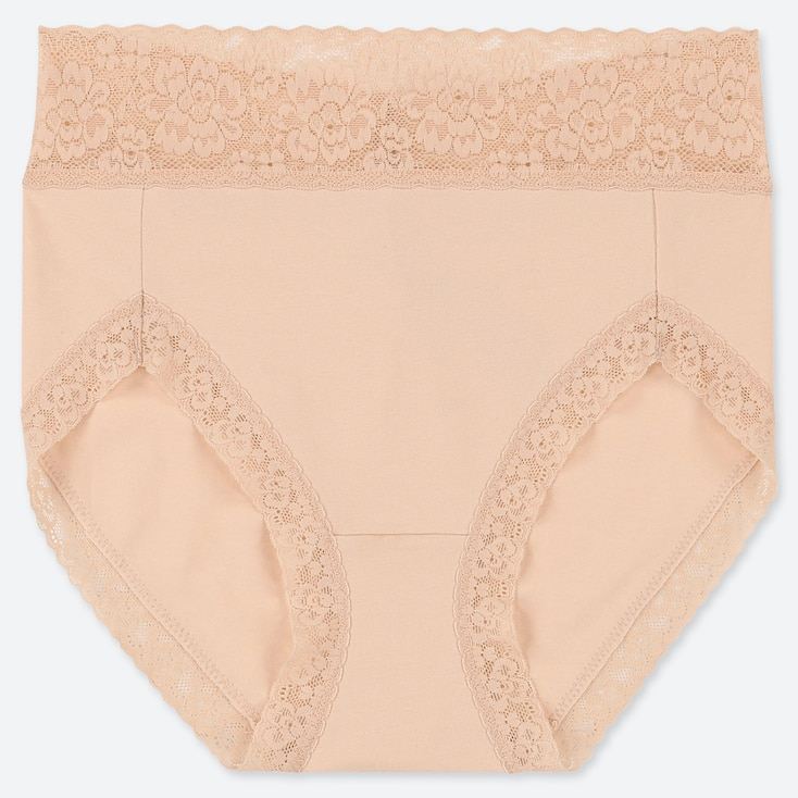 WOMEN HIGH-RISE BRIEF, NATURAL, large