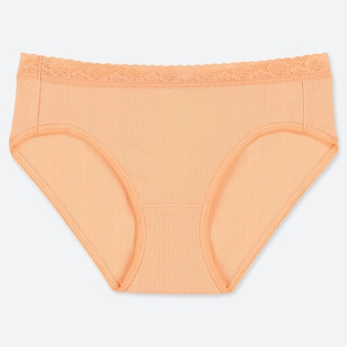 WOMEN JACQUARD BIKINI, LIGHT ORANGE, medium