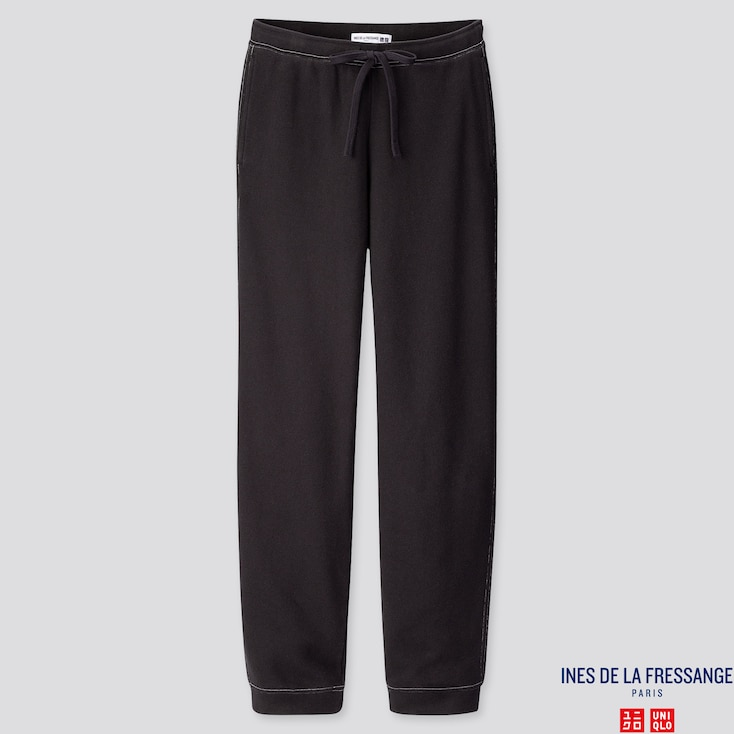 WOMEN SWEATPANTS  (INES DE LA FRESSANGE), BLACK, large