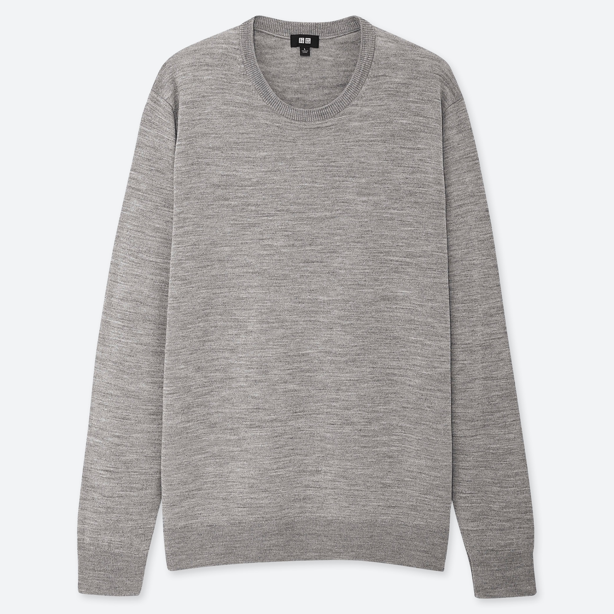 men extra fine merino crew neck long-sleeve sweater