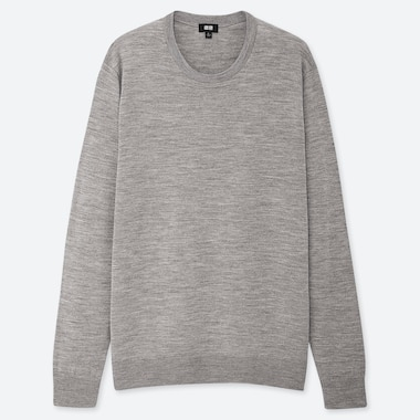 MEN EXTRA FINE MERINO CREW NECK JUMPER