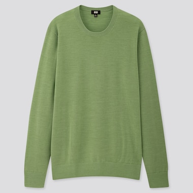 Men Extra Fine Merino Wool Crew Neck Jumper