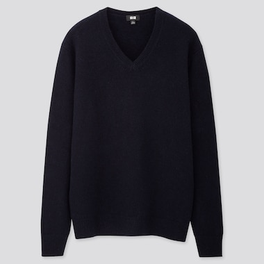 MEN PREMIUM LAMBSWOOL V NECK JUMPER