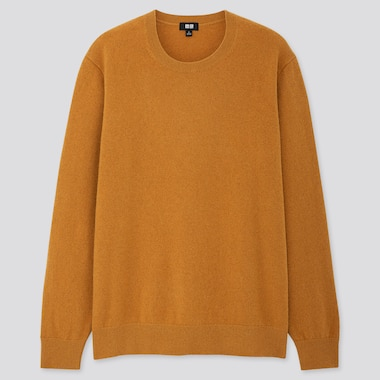 Men 100% Cashmere Crew Neck Jumper