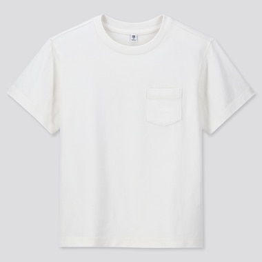 KIDS WASH CREW NECK SHORT-SLEEVE T-SHIRT (ONLINE EXCLUSIVE), OFF WHITE, medium