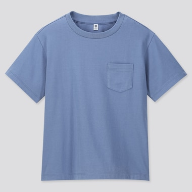 KIDS WASH CREW NECK SHORT-SLEEVE T-SHIRT (ONLINE EXCLUSIVE), BLUE, medium