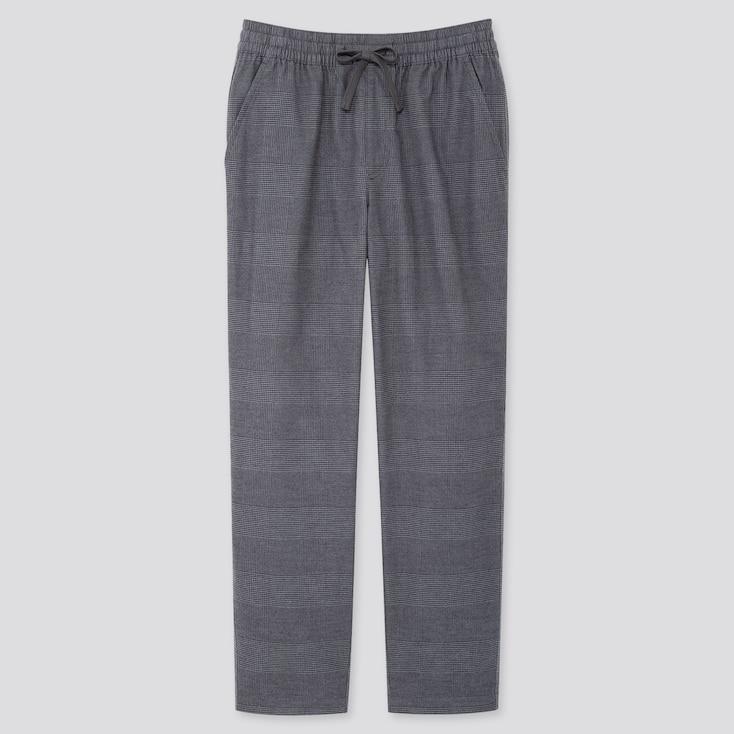 MEN FLANNEL EASY PANTS, DARK GRAY, large
